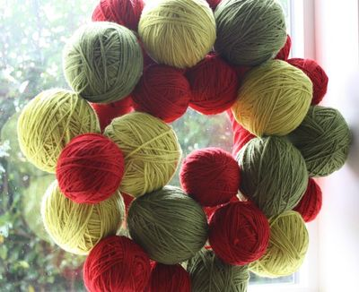 Yarn Wreath8