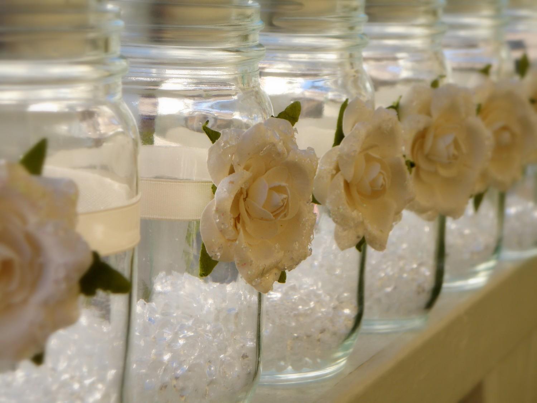 Mason jar crafts wedding - Wedding Favor Ideas Tea Image