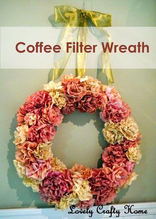 Coffeefilterwreath