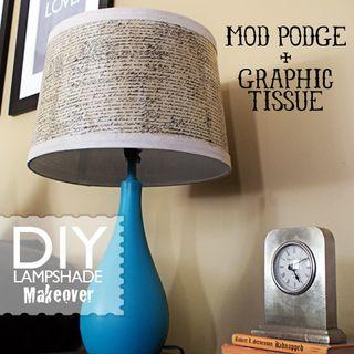 Modge podge lamp