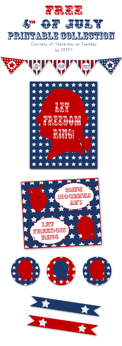Yesterday on Tuesday-Free 4th of July Printable Collection by FPTFY