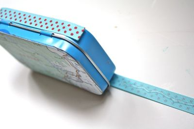 Hot Glue Trim Upcycled Mini Album - Yesterday on Tuesday