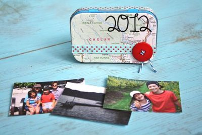 Finished Upcycled Tin Mini Album - Yesterday on Tuesday