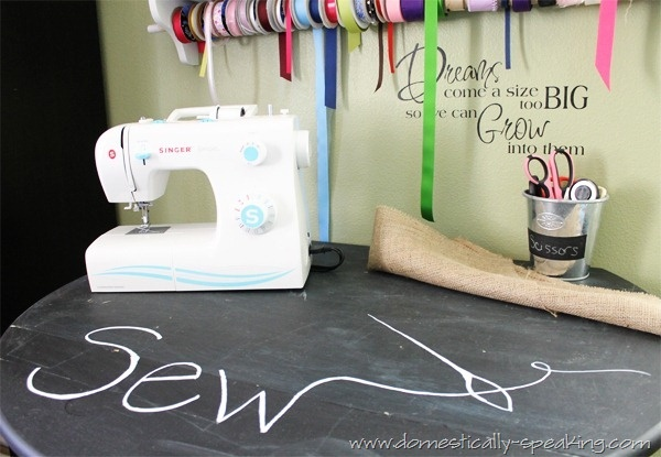Chalkboard Sewing Table
