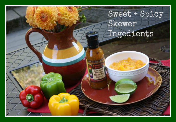 Sweet + Spicy Skewer Ingredients