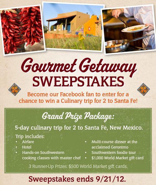 Gourmet Getaway Sweepstakes