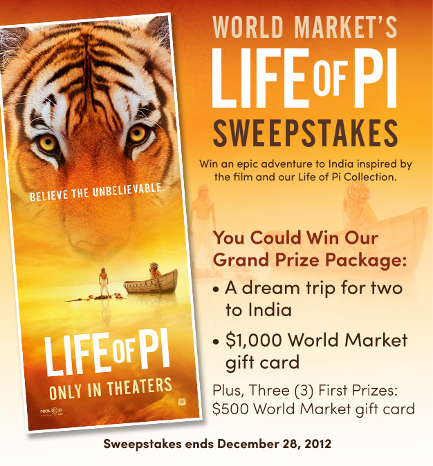 Life of Pi Sweepstakes